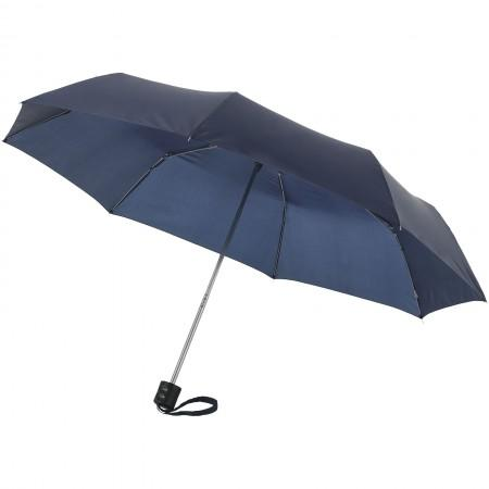 21,5'' Ida 3-section umbrella, blue, 24 x d: 97 cm - BRANIO