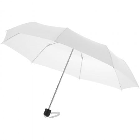 21,5'' Ida 3-section umbrella, white, 24 x d: 97 cm - BRANIO