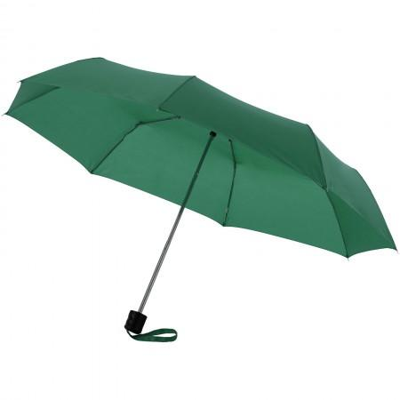 21,5'' Ida 3-section umbrella, green, 24 x d: 97 cm - BRANIO