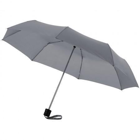 21,5'' Ida 3-section umbrella, grey, 24 x d: 97 cm - BRANIO