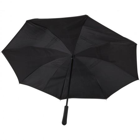 "23"" Lima reversible umbrella, solid black, 75 x d: 108 cm - BRANIO"