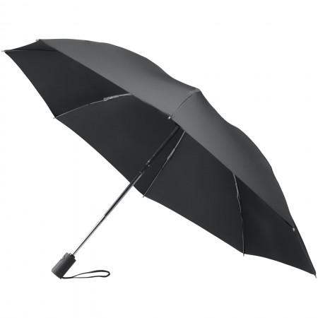 "23"" 3-section auto open reversible umbrella, solid black"