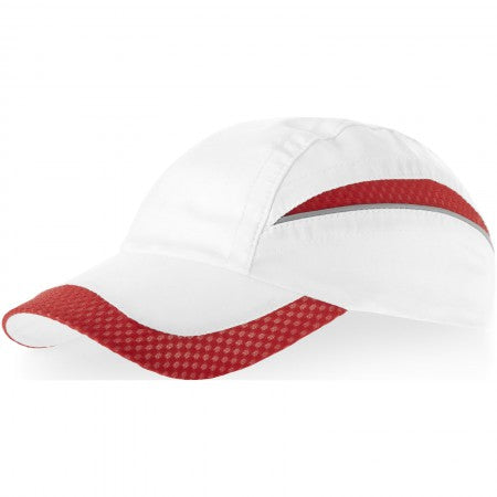 Qualifier 6p mesh cap, Red