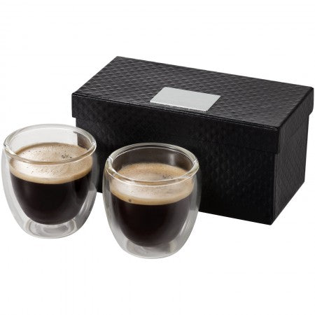 Boda 2-piece espresso set, transparent, 14,5 x 7,6 x 7,5 cm