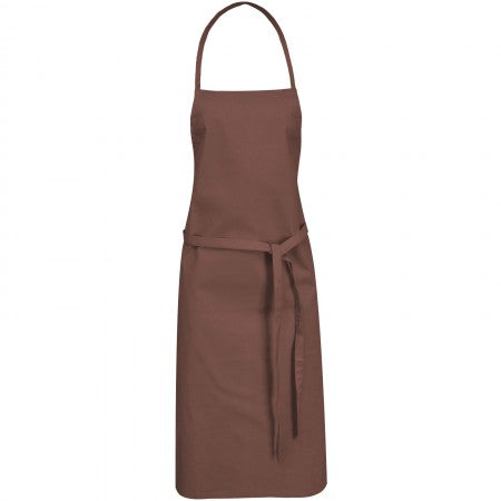 Reeva cotton apron, brown, 65 x 90 cm