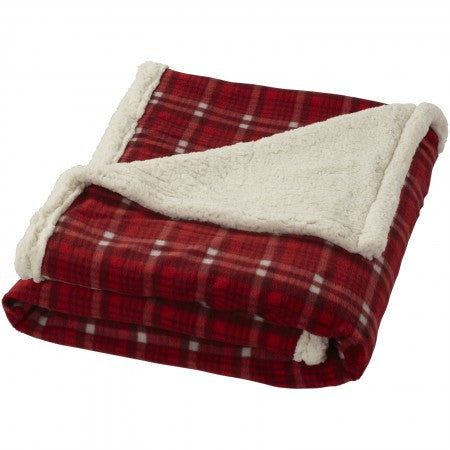Sherpa plaid, red, 152 x 124 cm