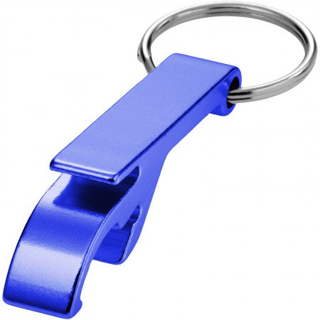 Tao alu bottle and can opener key chain, blue, 5,5 x 1 x 1,5