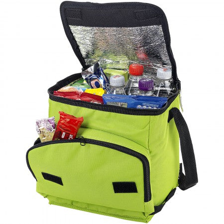 Stockholm foldable cooler bag, green, 23 x 21,5 x 26 cm