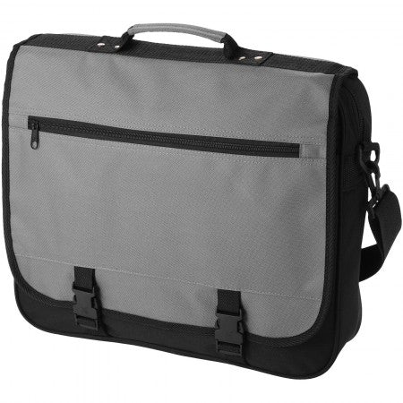 Anchorage conference bag, grey, 40 x 10 x 33 cm