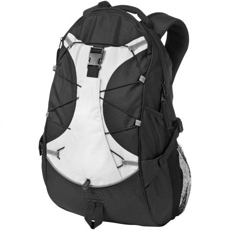 Hikers backpack, solid black, 25 x 16 x 49 cm