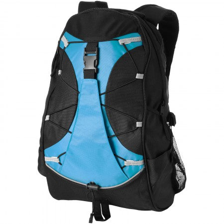 Hikers backpack, solid black, 28 x 16,5 x 48 cm