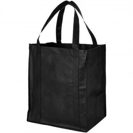 Liberty non woven grocery Tote, solid black, 33 x 25,4 x 36,