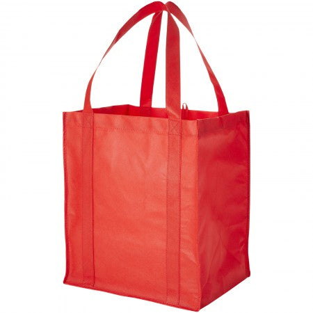 Liberty non woven grocery Tote, red, 33 x 25,4 x 36,8 cm