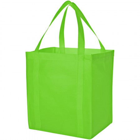 Liberty non woven grocery Tote, green, 33 x 25,4 x 36,8 cm