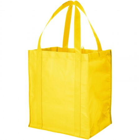 Liberty non woven grocery Tote, yellow, 33 x 25,4 x 36,8 cm