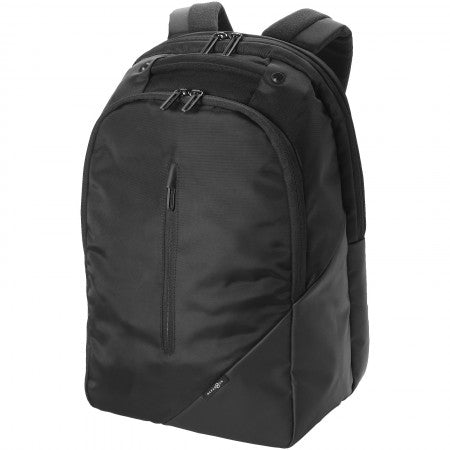 "Odyssey 15.4"" laptop backpack, solid black, 30 x 18,5 x 45 c"