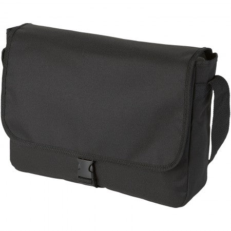 Omaha shoulder bag, solid black, 34 x 8,5 x 25 cm