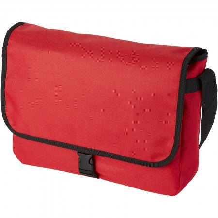 Omaha shoulder bag, red, 34 x 8,5 x 25 cm