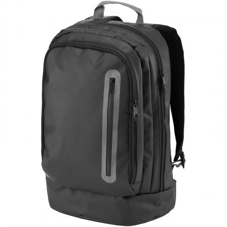North Sea backpack, solid black, 33 x 14 x 46 cm