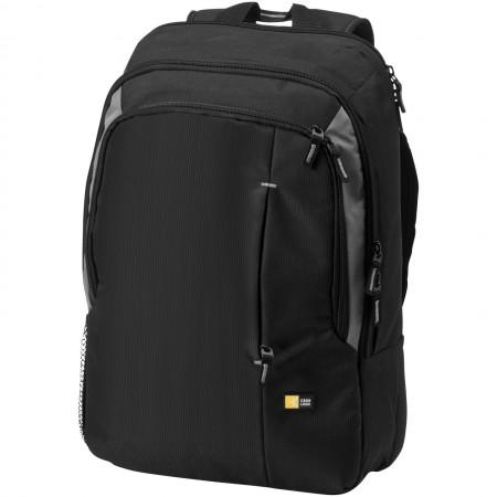 "17"" laptop backpack, solid black, 31 x 13 x 44 cm"