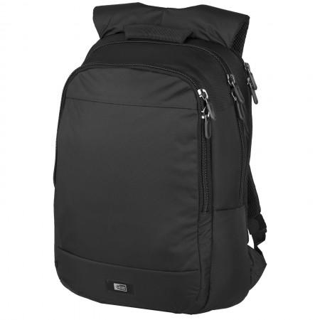 "15.6"" Laptop backpack, solid black, 34 x 10 x 49 cm"