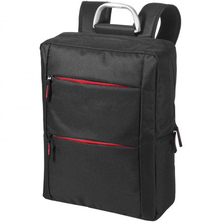 "Boston 15.6"" laptop backpack, solid black, 29 x 10 x 38 cm"