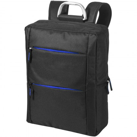 "Boston 15.6"" laptop backpack, solid black, 29 x 12 x 38 cm"