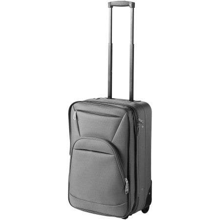 Expandable carry-on luggage, grey, 33 x 17,7 x 53,3 cm