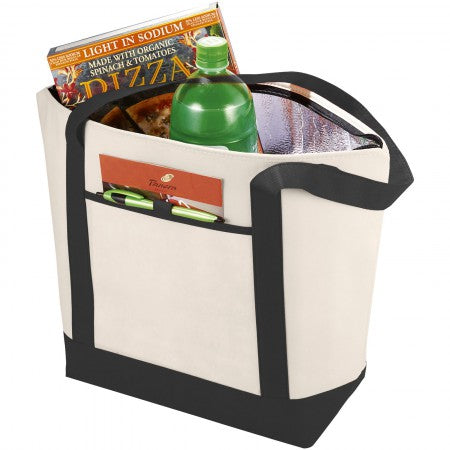 Lighthouse non woven cooler tote, white, 44,5 x 15,2 x 34,3