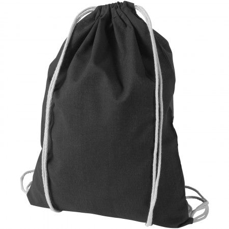 Oregon cotton premium rucksack, solid black, 44 x 33 cm