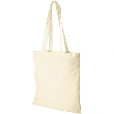 Madras Cotton tote, white, 38 x 42 cm