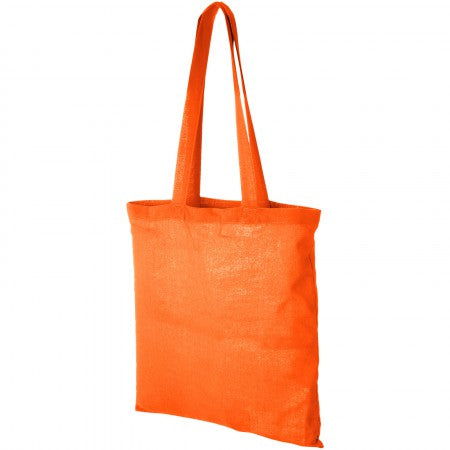 Madras Cotton tote, orange, 38 x 42 cm