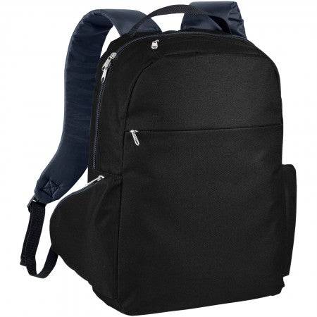 "The slim 15,6"" laptop backpack, solid black, 29 x 12 x 43 cm"