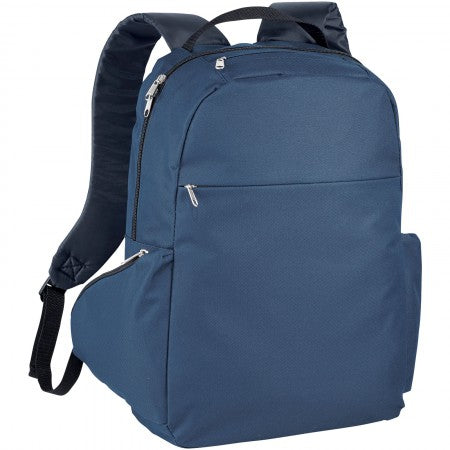 "The slim 15,6"" laptop backpack, blue, 29 x 12 x 43 cm"