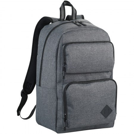 "Graphite deluxe 15.6"" laptop backpack, grey, 29 x 16,5 x 45"