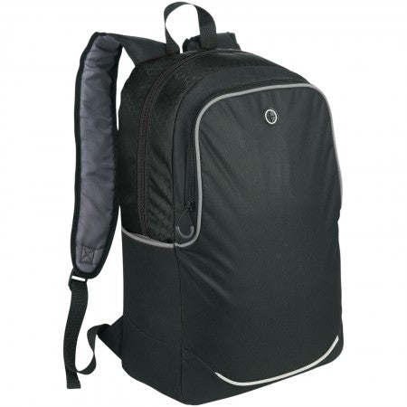 "Benton 17"" Computer Backpack, solid black, 30 x 12 x 45 cm"