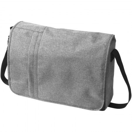 "Heathered 15.6"" Computer Messenger Bag, grey, 10 x 39,5 x 30"
