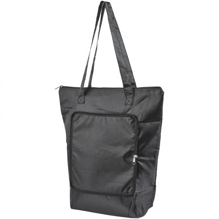 Cool Down foldable cooler tote, solid black, 14 x 41 x 44 cm