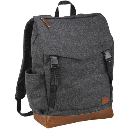 "Campster 15"" Backpack, grey, 33 x 12,5 x 45 cm"
