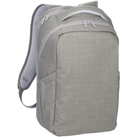 "Zoom? Grid 15"" TSA Computer Backpack, grey, 30,5 x 13,5 x 48"