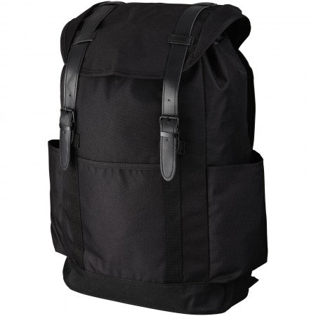 Thomas 16? laptop backpack, solid black, 30 x 13 x 45 cm
