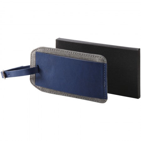 Heathered luggage tag, Blue