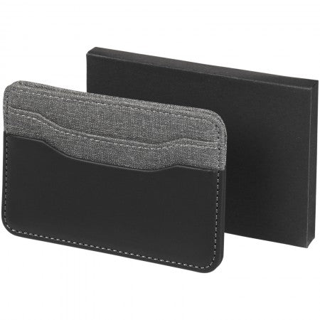Heathered card holder, solid black