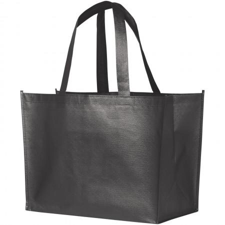 Alloy Laminated Shopper Tote, Medium grey - BRANIO