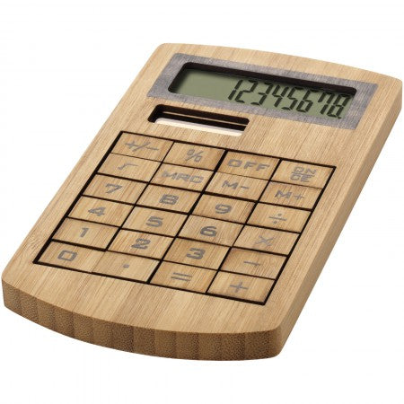 Eugene calculator, brown, 13,6 x 7,6 x 1 cm