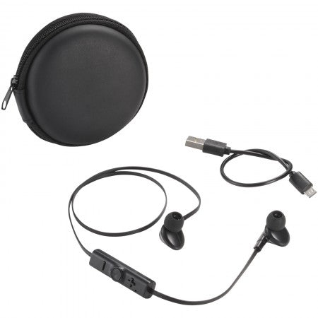 Sonic Bluetooth? Earbuds and Carrying Case, black