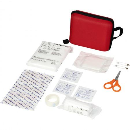 16 piece first aid kit, red, 16 x 12 x 5,5 cm - BRANIO