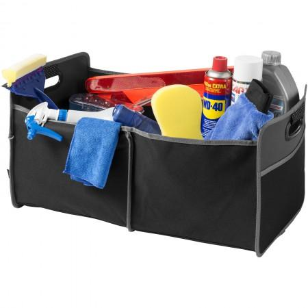Accordion trunk organizer, solid black, 60 x 36 x 31 cm - BRANIO