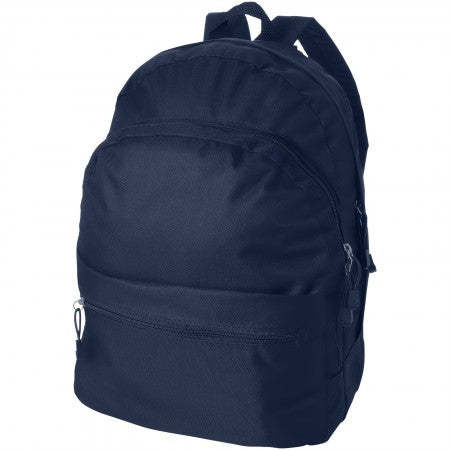Trend backpack, blue, 30 x 17 x 40 cm