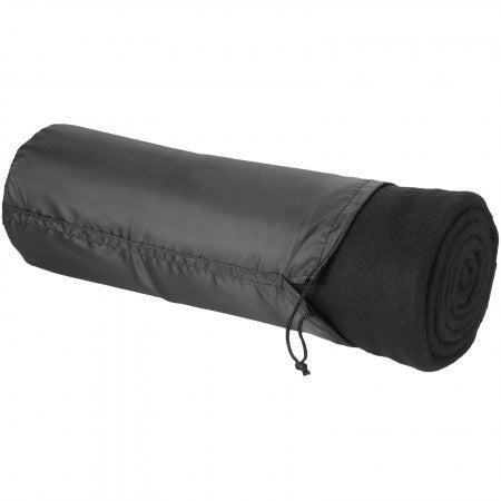 Huggy blanket and pouch, solid black, 150 x 120 cm